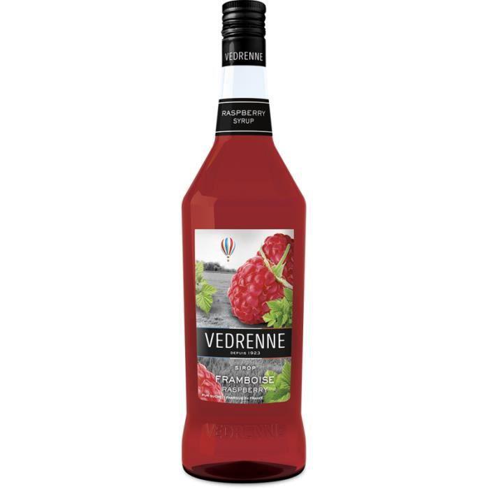 Sirop de Framboise VEDRENNE - 100cl - Fruité et gourmand