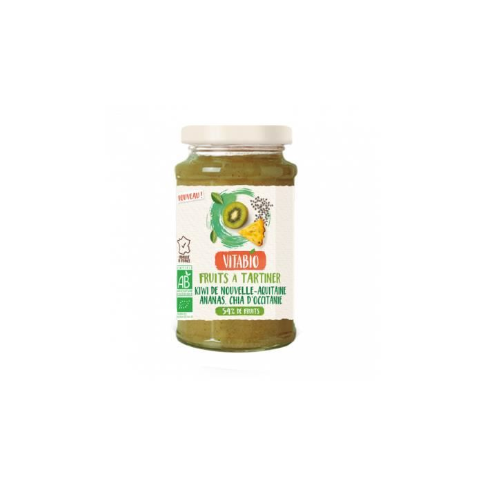 Fruits à tartiner kiwi ananas chia 290gr - Vitabio