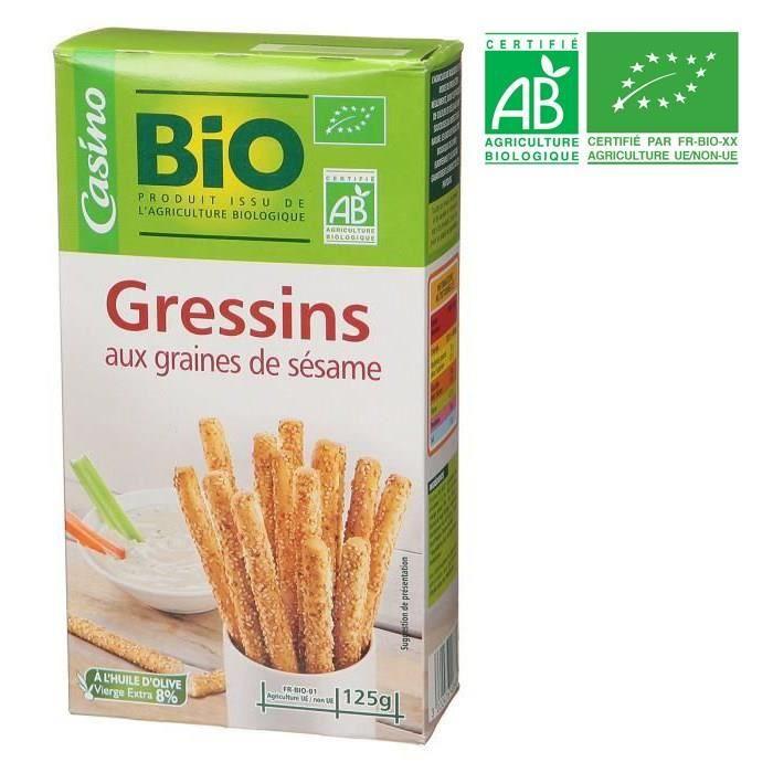 KAMBLY FRANCE Gressins sésame - BIO - 125 g