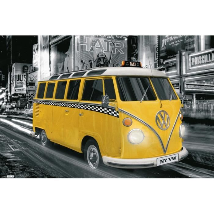 poster taxi new york achat vente poster taxi new york. Black Bedroom Furniture Sets. Home Design Ideas