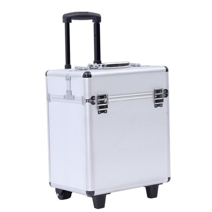 valise en aluminium bo te maquillage outils beauty case trolley maquillage coiffure nail. Black Bedroom Furniture Sets. Home Design Ideas
