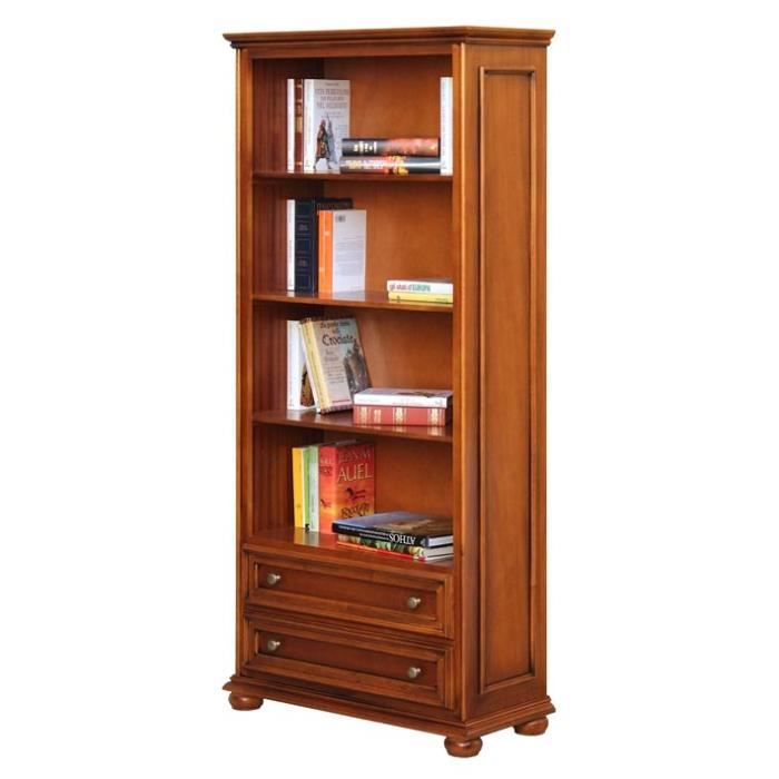 meuble biblioth que 2 tiroirs achat vente biblioth que meuble biblioth que 2 tiroirs cdiscount. Black Bedroom Furniture Sets. Home Design Ideas