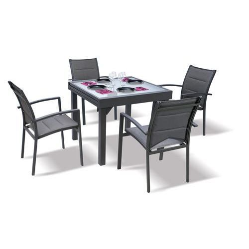 table et chaises de jardin modulo blatt achat vente. Black Bedroom Furniture Sets. Home Design Ideas