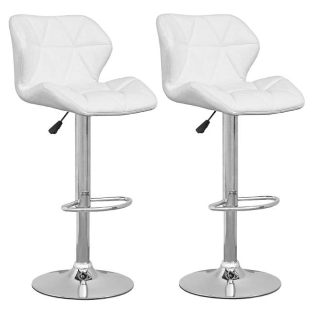 tabouret de bar blanc lot de 2 spider achat vente. Black Bedroom Furniture Sets. Home Design Ideas