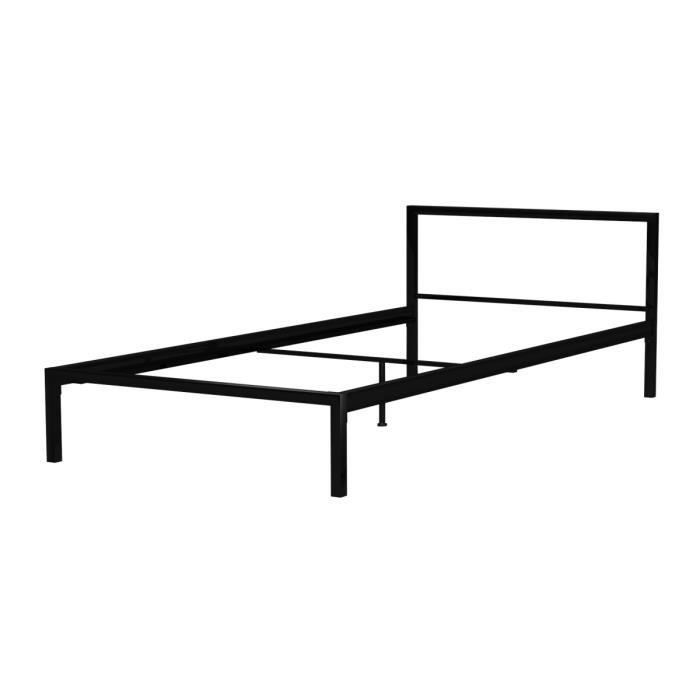 max lit enfant 90x190cm m tal noir achat vente structure de lit max lit noir 90x190cm m tal. Black Bedroom Furniture Sets. Home Design Ideas