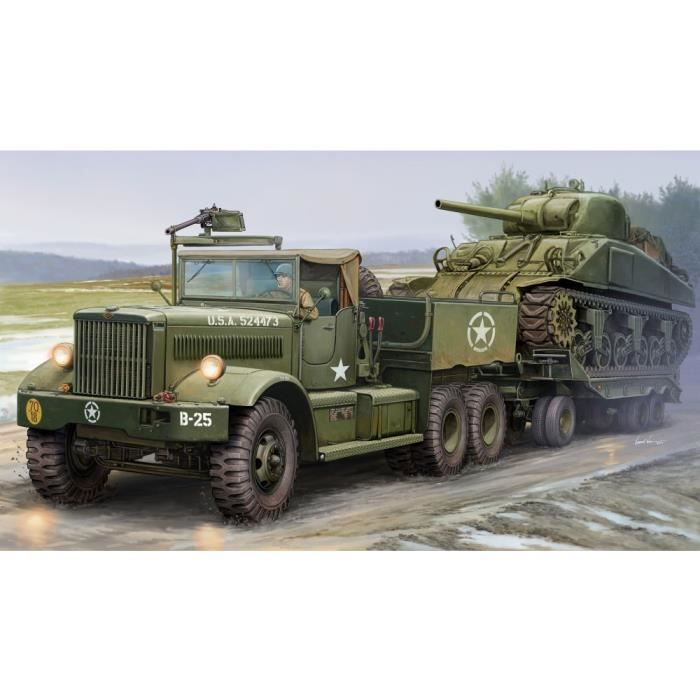maquette v hicule militaire tracteur et porte char us m19 achat vente voiture construire. Black Bedroom Furniture Sets. Home Design Ideas