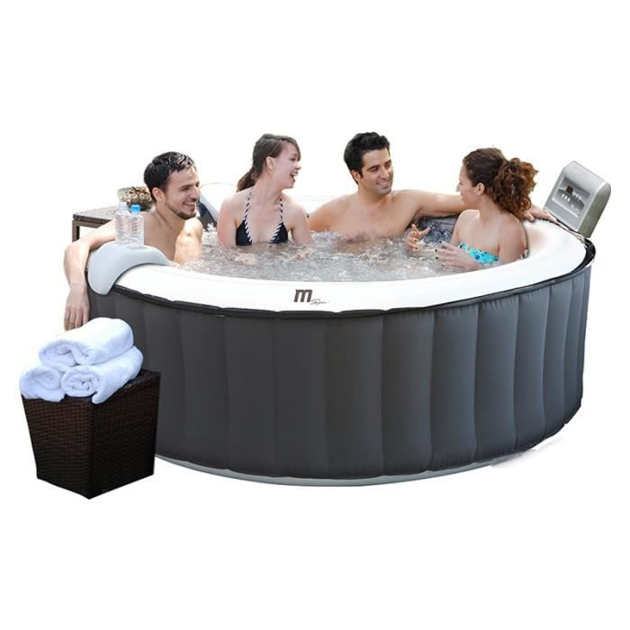 Spa gonflable silver cloud lite 4 places rond achat vente spa complet k - Spa gonflable 4 places ...