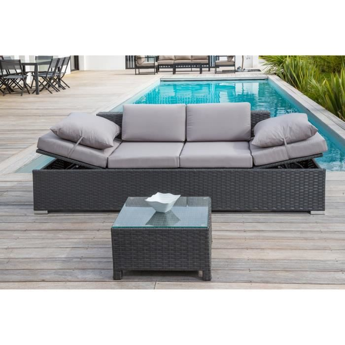 salon de jardin 1 table basse 1 canap 2 places en. Black Bedroom Furniture Sets. Home Design Ideas