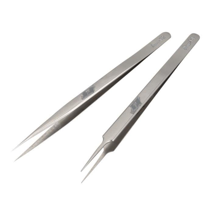 AA Pince à épiler Non Magnétique droite en acier inoxydable anti magnétique pointe fine