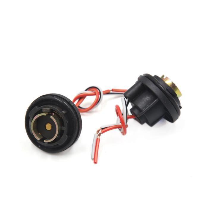 5pcs 1157 Douille ampoule clignotant voiture Stop adaptateur connecteur fil