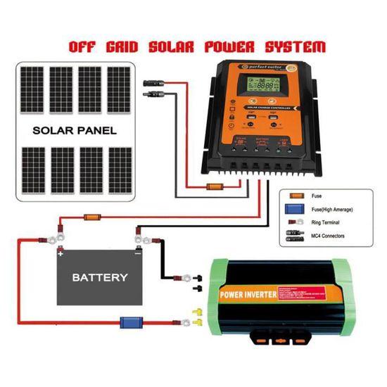 10//20//30//40A Panneau solaire Contrôleur charge de batterie Régulateur Étanche 12V//24V