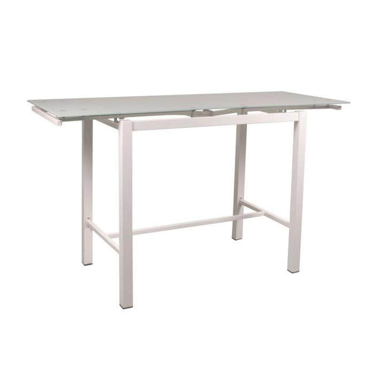 Lido table haute extensible l110 170cm blanc achat for Table haute 4 personnes