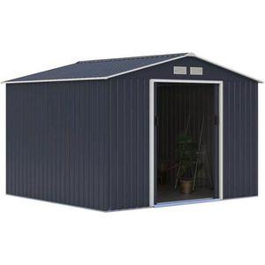ABRI JARDIN - CHALET Abri de jardin en métal 7,06m² - 2 portes coulissa
