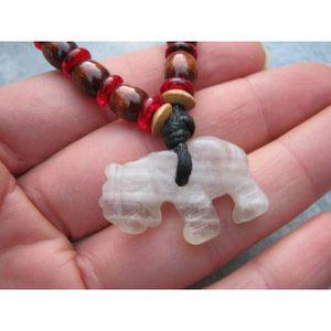 SAUTOIR ET COLLIER collier d'éléphant en fluorite pour femme, pendent