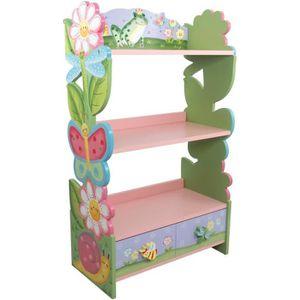 BIBLIOTHÈQUE  Meuble bibliothèque en bois enfant avec 1 tiroir d