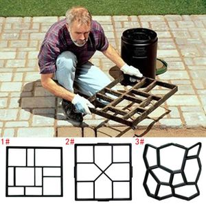 Moule b/éton noir de haute qualit/é en plastique moul/é pour gazon pelouse escaliers parking 50 x 50 x 4,5 cm