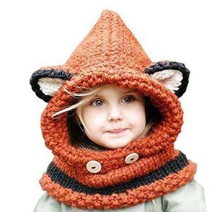 BONNET - CAGOULE Hiver Tricotés Bonnet Chapeaux Renard Unisexe Cago