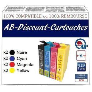 CARTOUCHE IMPRIMANTE 8 cartouches génériques compatibles T1816 18XL !!