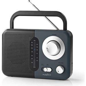 RADIO CD CASSETTE RADIO DESIGN RETRO AM/FM PORTABLE AVEC POIGNEE SUR