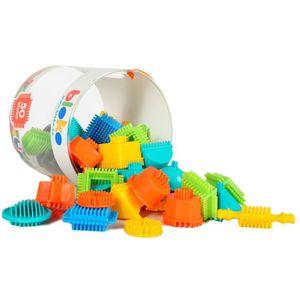 ASSEMBLAGE CONSTRUCTION BLOKO - Tube de 50 'BLOKO' - Dès 12 mois - Jouet d