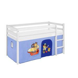 LIT COMBINE  Lit surélevé ludique JELLE 90 x 190 cm Pirate bleu