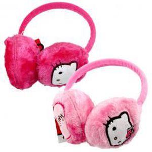 BONNET - CAGOULE Cache Oreilles Hello Kitty Rose