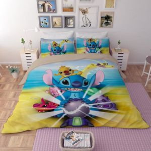 HOUSSE DE COUETTE SEULE Lilo et Stitch parure de lit imprimés - 1 housse d