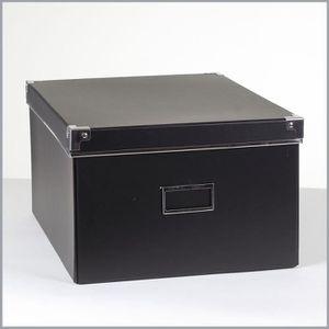 BOITE DE RANGEMENT Boîte carton noir + métal - Petit modèle Noir