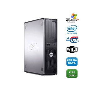 UNITÉ CENTRALE  PC DELL Optiplex 360 DT Intel Dual Core E5200 2.5G