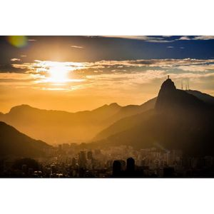 AFFICHE - POSTER Poster Affiche Leve de Soleil Sur Rio De janeiro 6