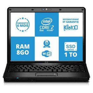 Vente PC Portable ordinateur portable 15 pouces hp 6730 intel core 2 duo 8go ram 1to ssd disque dur w7 pas cher