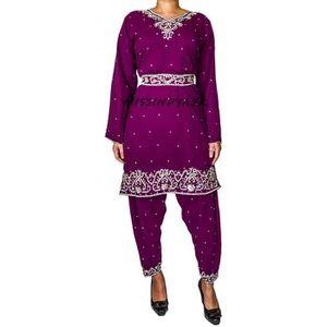 ROBE Robe indienne Tenue bollywood Prune sari deguiseme