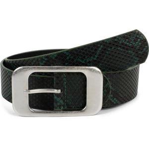 styleBREAKER ceinture pour femme aspect peau de serpent avec grande boucle rectangulaire raccourcissable 03010101