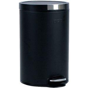 POUBELLE - CORBEILLE Poubelle 12 L cylindrique - noir mat