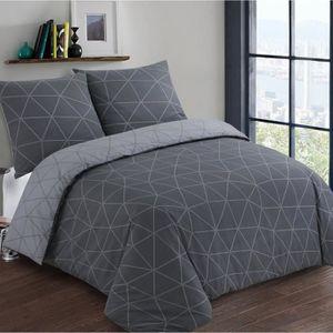 king size damass, double Parure de lit 100 /% coton percale 200 fils//cm/² avec housse de couette pour lit double super king size