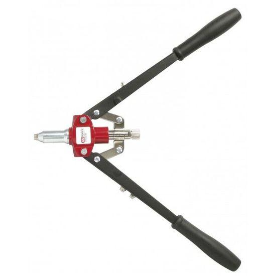 3 mm 4 mm 2,5 mm 6 mm Pince /à riveter professionnelle de 45,7 cm avec 5 rivets pour double poign/ée 5 mm 3,2 mm