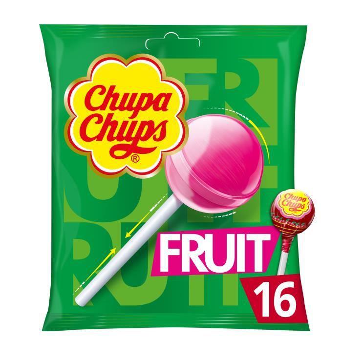 CHUPA CHUPS Sucettes Lollipops au goûts de fruits - 192 g