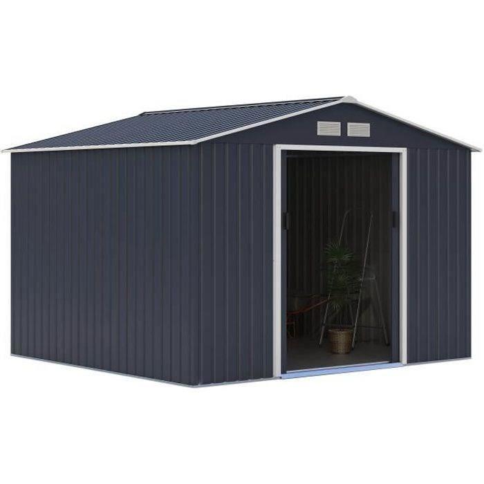 Abri de jardin acier 7,06 m2. avec kit d'ancrage inclus
