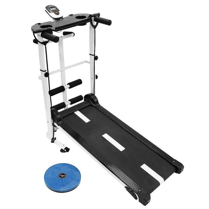 SOARROC tapis de course pliable, Avec panneau de placement pour iPad Noir