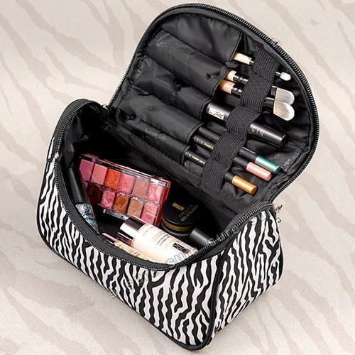 DAMILY® Trousse de maquillage voyage cosmétiques organisateur femme sac à main multifonction pochette de rangement de toilette