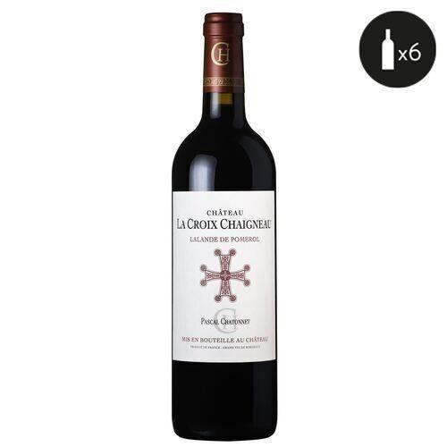 6 bouteilles - Vin rouge - Tranquille - Château La croix chaigneau Lalande-de-Pomerol Rouge 2016 6x75cl