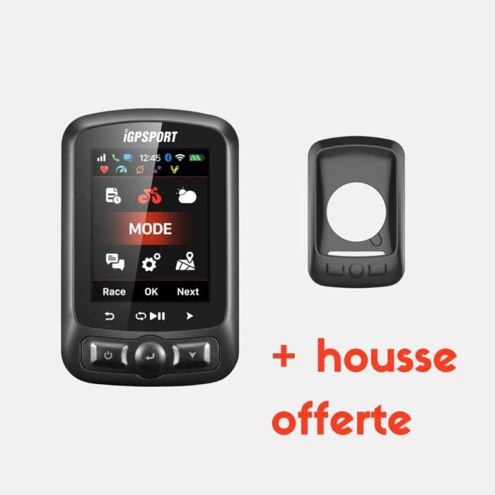Compteur GPS - Pack iGS620BHN - Compteur de vélo GPS Connecté + Coque noire