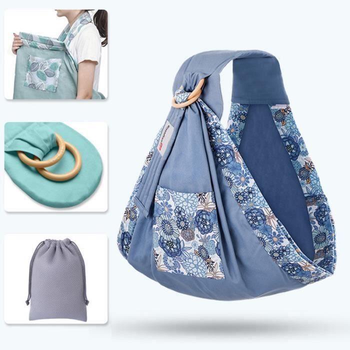 Echarpe de portage anneaux épaule rembourrée Ornate Bleu