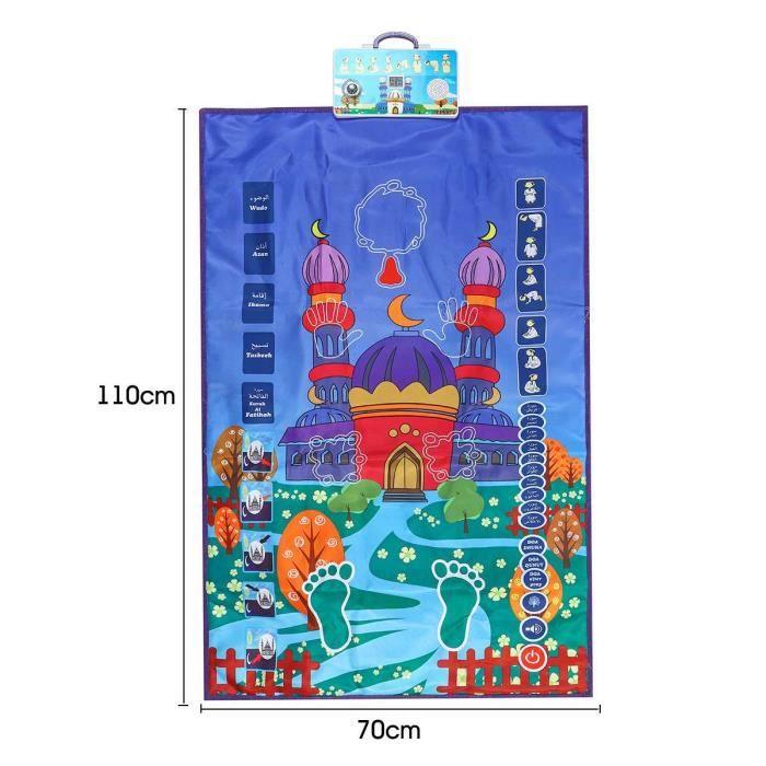 Jeux d'apprentissage,Tapis de prière interactif multifonctionnel pour les enfants musulmans confort anti dérapant enfants - Type 1