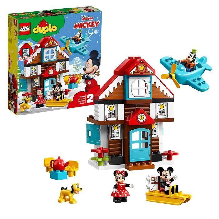 LEGO DUPLO Disney - La maison de vacances de Mickey, Jouet pour Tout-Petits Fille et Garçon dès 2 Ans 2 Ans et Plus, 57 Pièces de