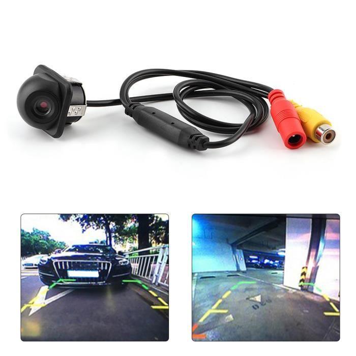 Qiilu caméra de recul de vision nocturne Caméra de recul universelle pour voiture petit chapeau de paille vue arrière caméra de