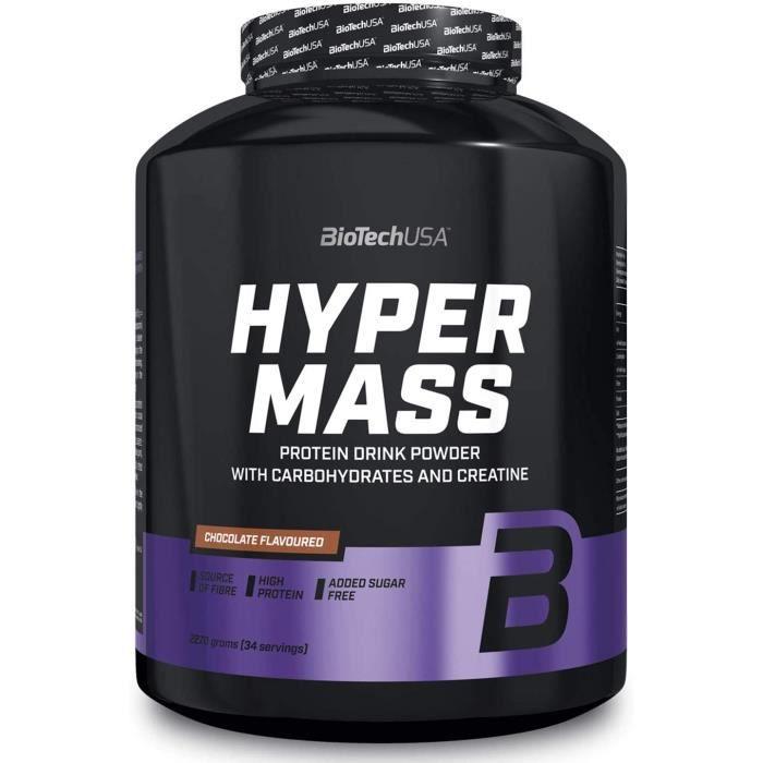 Hyper Mass 5000 2,27kg CHOCOLAT Biotech USA Gainer Proteine Musculation