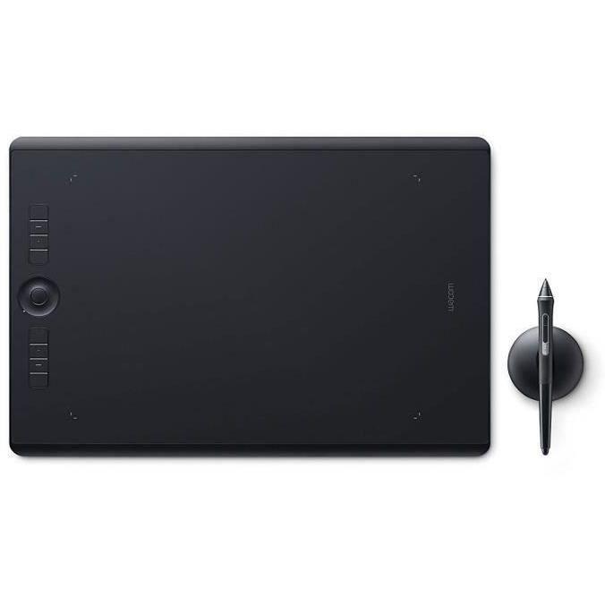 WACOM Tablette graphique Intuos Pro avec Stylet Pro Pen 2 + Repose-stylet - Medium + ACK-20003 5 pointes stylet feutre