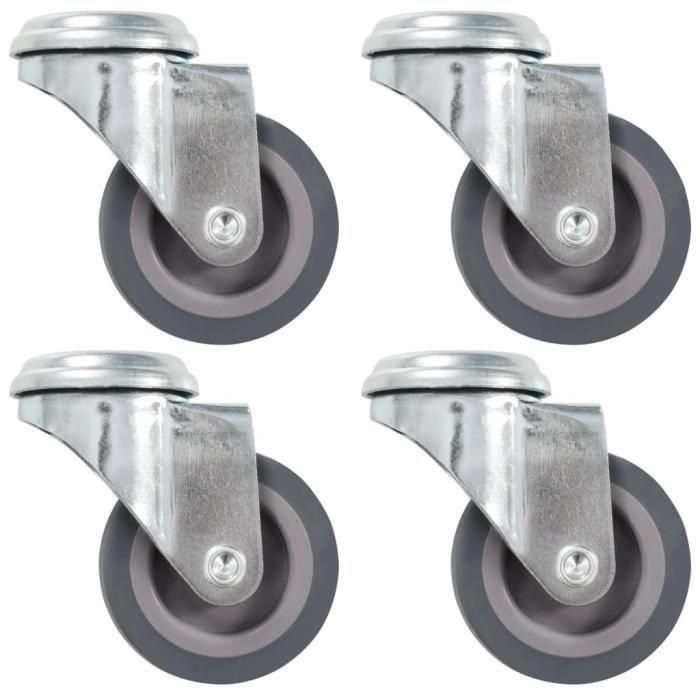 4 pcs Roulettes pivotantes à trou de boulon 50 mm - 764