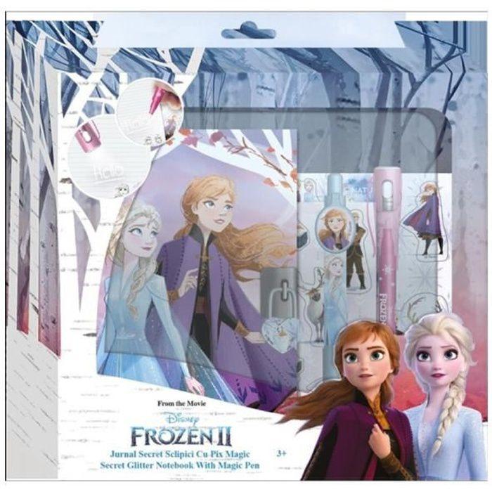 Frozen 2 - la reine des neiges 2 journal intime avec cadenas et ses clés + accessoires